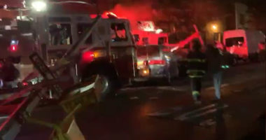 Firefighter collision