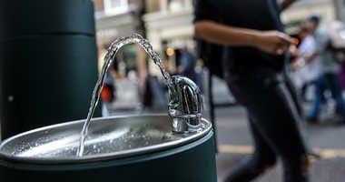 A public water fountain