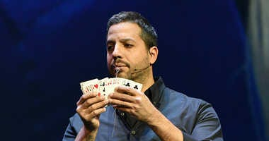 Magician & Endurance Artist David Blaine performs onstage during the Onward18 Conference - Day 2 on October 24, 2018