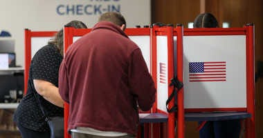 Voters cast ballots on election day 2019