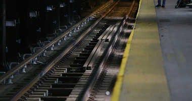 Train tracks at Penn Station.