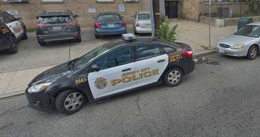 Jersey City Police squad car.