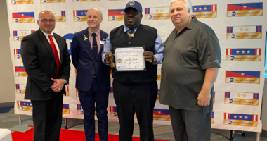 Bus driver Christer Beckford given MTA award