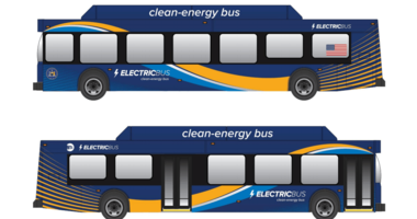 Electric MTA buses
