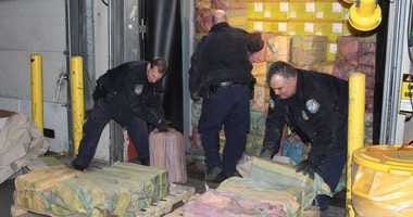 Seized cocaine Port of New York/Newark
