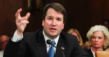 FILE -In this April 26, 2004, file photo, Brett Kavanaugh appears before the Senate Judiciary Committee on Capitol Hill in Washington.
