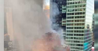 Times Square hotel fire