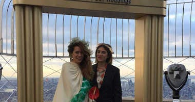 Valentine's Day wedding ceremony at the Empire State Building