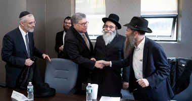 William Barr meets with Jewish leaders in Brooklyn