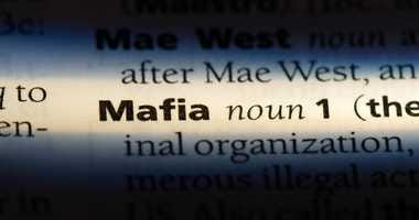 The word mafia in a dictionary