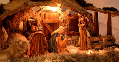 Nativity scene displayed at Christmas.