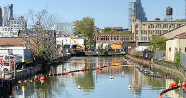 The Gowanus Canal, also known as the Gowanus Creek Canal, is a canal in the New York City borough of Brooklyn, geographically on the westernmost portion of Long Island.