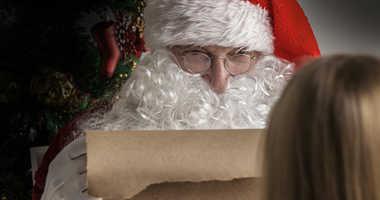 Santa checks his list.