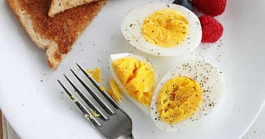 Hard boiled egg warning
