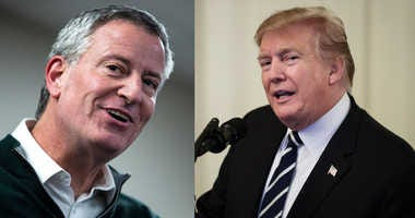 Mayor de Blasio and Donald Trump