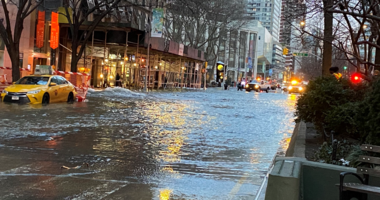 Water main break Upper West Side