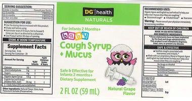 Cough Syrup Recall DG health