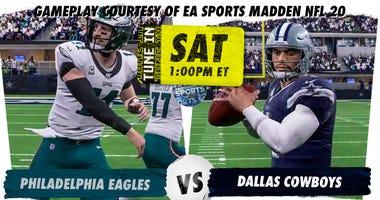 Eagles Cowboys 2020 Madden sim