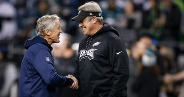 Pederson and Pete Carroll