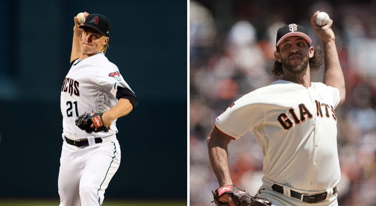 Zack Greinke and Madison Bumgarner