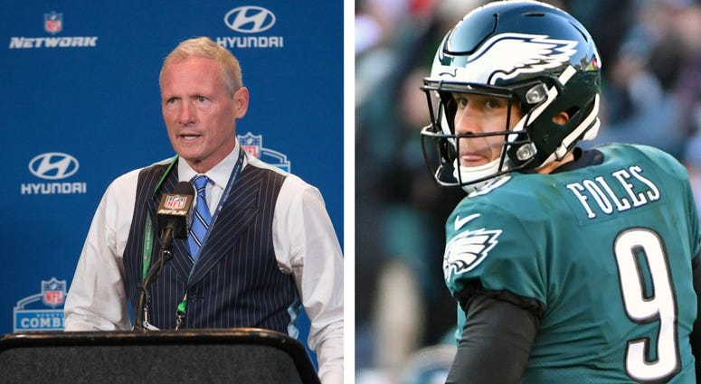 Mike Mayock and Nick Foles