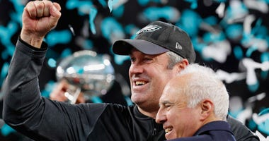 Doug Pederson and Jeffrey Lurie