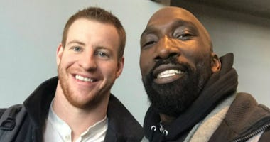 Ike Reese with Carson Wentz