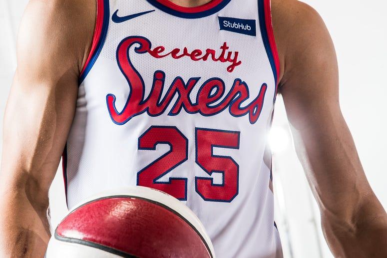 Philadelphia 76ers throwback uniforms