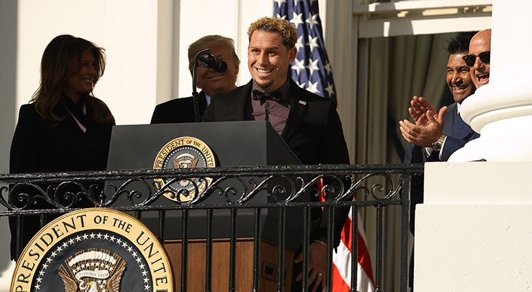 Asdrubal Cabrera – Nationals' White House Visit