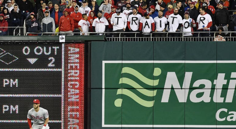 Bryce Harper was booed steadily throughout his first game back at Nats Park in a Phillies uniform