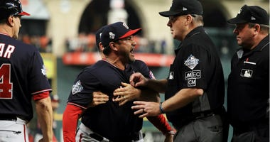 Best pictures of World Series umpire controversy, Dave Martinez ejection