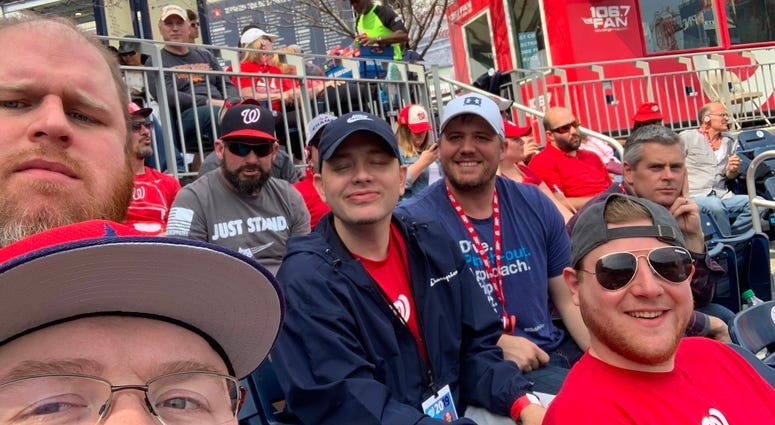106.7 The Fan personalities and producers at Nats Park.