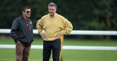 Redskins owner Dan Snyder and team president Bruce Allen