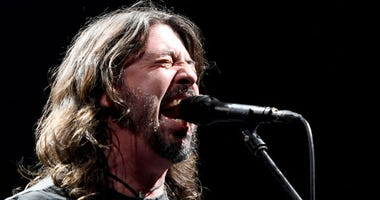 Dave Grohl of Foo Fighters performs at the Intersect music festival at the Las Vegas Festival Grounds on December 7, 2019 in Las Vegas, Nevada.