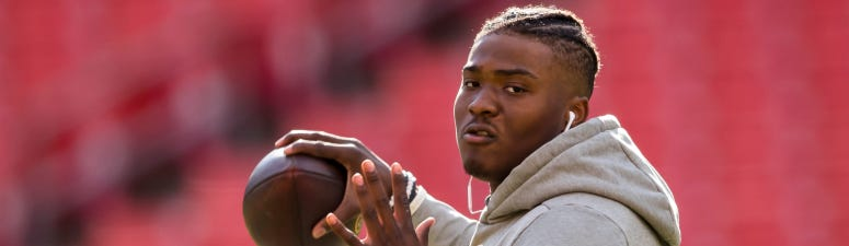 Redskins OC can tell Haskins is putting in extra work