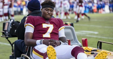 After best start yet, Haskins' day comes to screeching halt