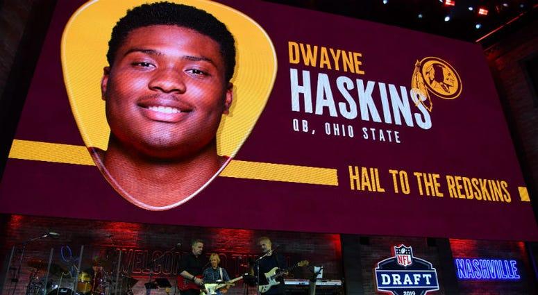 Redskins officially sign rookie QB Dwayne Haskins