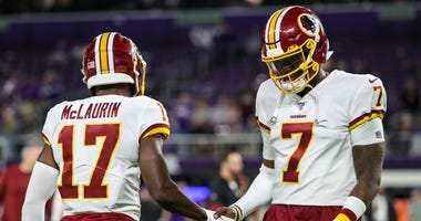 Case Keenum out with concussion, Haskins in vs. Vikings
