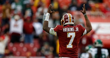 Chris Thompson likes what he's seeing from Dwayne Haskins