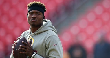 Dwayne Haskins throwing to Antonio Brown (watch)