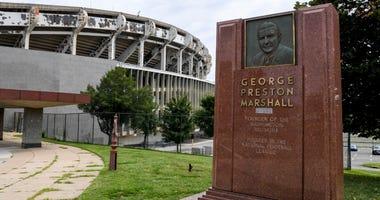 George Preston Marshall monument removed from RFK Stadium