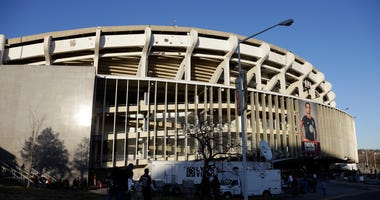View of the outside of RFK Stadium in 2013 before an MLS game.