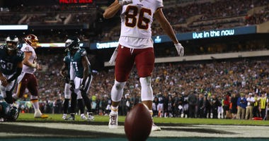 Jordan Reed finds the end zone at Lincoln Financial Field in Philadelphia