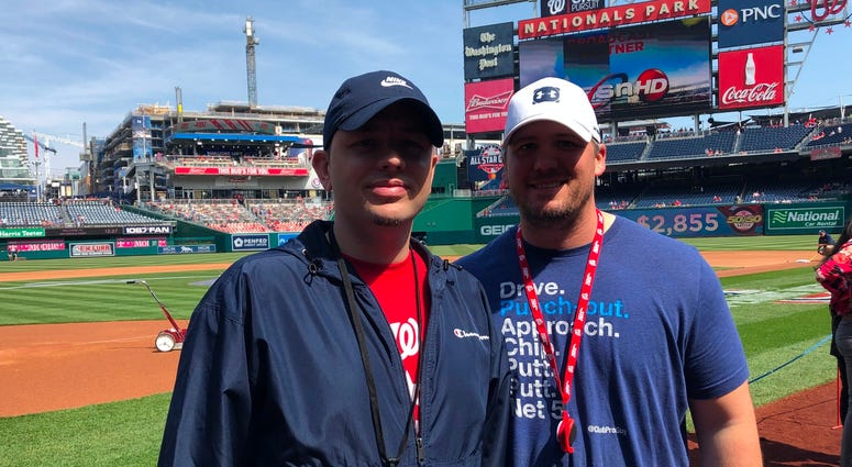The Sports Junkies producers Valdez and Drab at Nats Park.