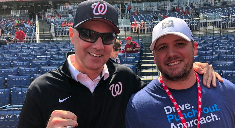 Eric Bickel and Junkies producer Matt Valdez at Nats Park.