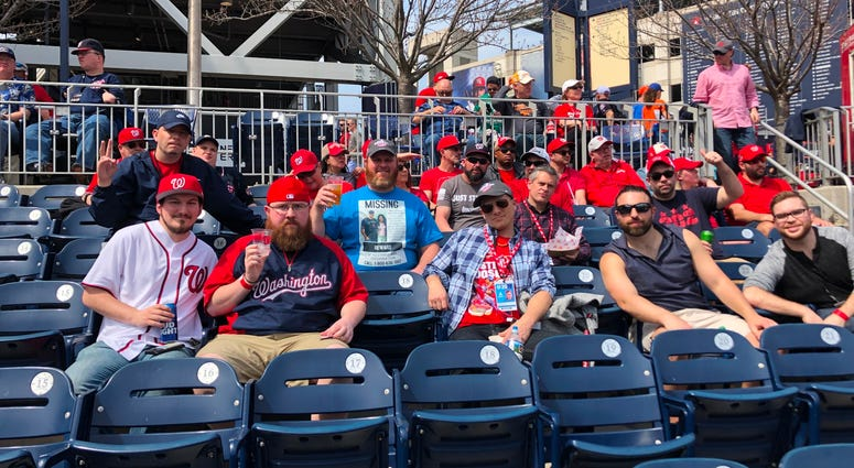 106.7 The Fan personalities at Nats Park on The Fan Day.