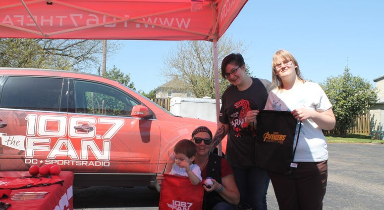 Chad Dukes and the 106.7 The Fan Street Team joins listeners at the Bull Run Harley Davidson in Manassas, VA.