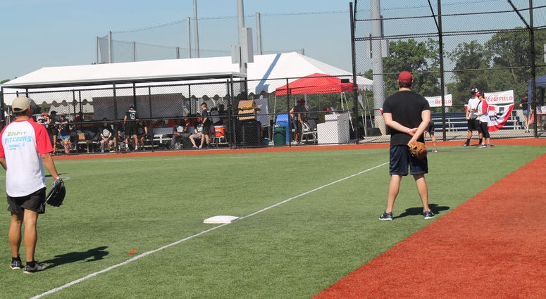 Grant and Danny host the 4th Annual Legal Mushball Tournament held at the Nationals Youth Baseball Academy.