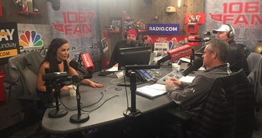 Lisa Ann gives her takes during an appearance on The Sports Junkies.