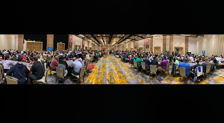 Yep, we broke another record with 751 poker players.